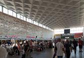 Interiér moskovsky rail terminálu v Petrohradě — Stock fotografie