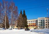 Arquitectura de la época de la urss - hotel en vyazniki — Foto de Stock