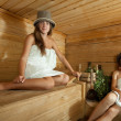 Stock Photo: Woman in sauna
