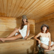 Two women in sauna — Stock Photo #13665210