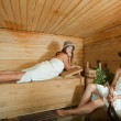 Royalty-Free Stock Photo: girls   in sauna