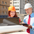Builders works at construction site — Stock Photo #13665492