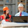 Builders works at construction site — Stock Photo #13665495