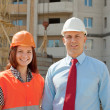 Portrait of two builders — Stock Photo #13665508