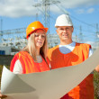 Portrait of two builders — Stock Photo #13665673