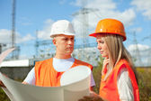 Portrait of two workers — Stock Photo