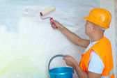 House painters with paint roller — Stock Photo