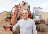 Portrait of tractor operator — Stock Photo