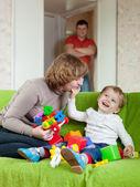 Gelukkig moeder en baby — Stockfoto
