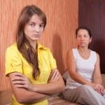 Mother and teen daughter having quarrel — Stock Photo #13675512