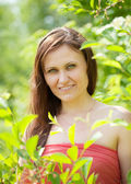 Portrait of woman in spring — Stock Photo