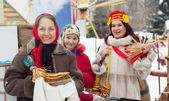 Women during Maslenitsa festival — Stock Photo