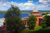 Kremlin wall and Volga at Nizhny Novgorod — Stock Photo