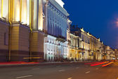 View of St. Petersburg in night — Stock Photo