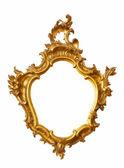 Forma inusual marco dorado — Foto de Stock