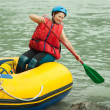 Rafting on the raft — Stock Photo