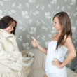 Royalty-Free Stock Photo: Woman  make boast of fur coat