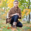 Beauty woman in autumn  — Stock Photo