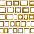Set of 30 gold picture frames — Stock Photo #15261047