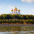 Assumption Cathedral in Yaroslavl from Volga - Stock Photo