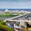Nizhny Novgorod.  Metro Bridge through Oka — Stockfoto