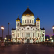 Christ the Savior Cathedral in night, Russia - Stock Photo