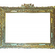 Old gold frame. Isolated over white — Stock Photo