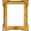 Gold picture frame - 图库照片