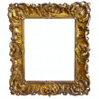 Old gold picture frame — Stock Photo