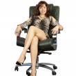 Business woman sitting on  office armchair — Stock Photo