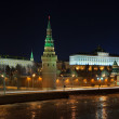View of Moscow Kremlin in winter night. Russia — Stock Photo