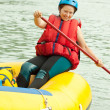 Girl on raft — Stock Photo #15266237