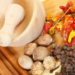 Various natural spices — Stock Photo