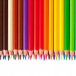 Foto de Stock  : Border from pencils with copyspase