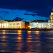 View of St. Petersburg  in night - Stock Photo