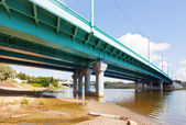 Tolbuhinsky bridge through Kotorosl — Stock Photo