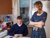 Financial problems in the family — Stock Photo