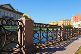 Fence at Embankment of Moyka River — Stock Photo
