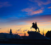 Bronze Horseman in St.Petersburg — Stock Photo