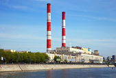 View of Moscow. Power station — Stock Photo