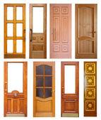 Set of wooden doors — Stock Photo