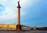 View of St. Petersburg. Alexander Column — Stock Photo