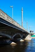圣彼得斯堡的视图。blagoveshchensky 桥 — 图库照片