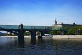 Vista de moscú. puente andreyevsky — Foto de Stock