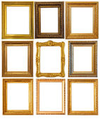 Gold picture frame — 图库照片
