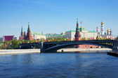 Moscow Kremlin from Moskva River. Russia — Stock Photo