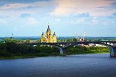 Nizjni novgorod. kanavinsky brug — Stockfoto