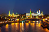 Moscow Kremlin in night. Russia — Foto de Stock