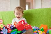 Retrato de niño de tres años — Foto de Stock