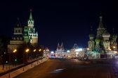 Gece kızıl meydan. moskova. rusya — Stok fotoğraf